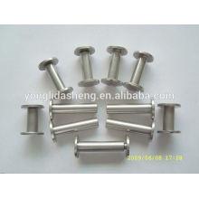 Silver Top Tornillo de metal de grado para el archivo de papel, accesorios de hardware
