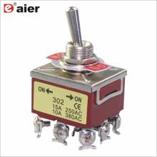Daier KN-302/303 250VAC 3 Pole 9 Pin Toggle Switch