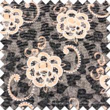Tissu en laine brûlée de haute qualité