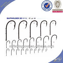 FSH028 82154 ganchos de pesca de alto carbono aço ganchos de pesca baithholder