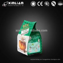 Embalaje de té al por mayor impreso personalizado