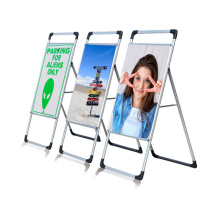 Portable Pavement Sign Advertising A-Board Poster Stand