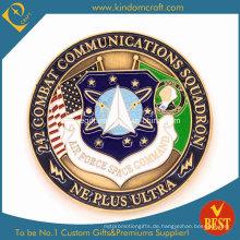 Zink-Legierung Enamel USA Airforce Award Münzen (JN-0124)