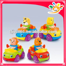 Mini Animal Cartoon Friction Car Toys For Baby Mini Plastic Car
