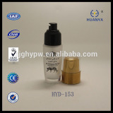 HYD-153 18/410 plastic lotion pump with 30ml glass bottle