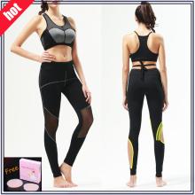 Custom Made Lycra respirável mulheres fitness leggings (com malha)