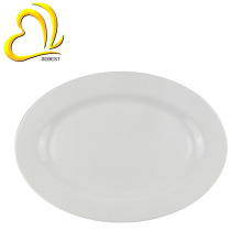 "Custom printing restaurants items melamine 12"" dinner oval plate"