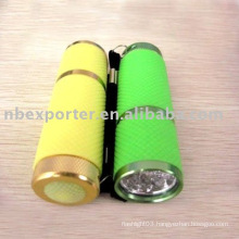 BT-0986 leather sheath bright led tactical flashlight