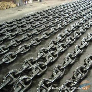 China Painted Black Stud Link Anchor Chain