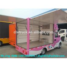 Karry mini caminhão móvel da comida, caminhão rápido do alimento rápido à venda
