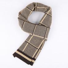 La mode des hommes à carreaux motif hiver chaud écharpe tissée (YKY4614)