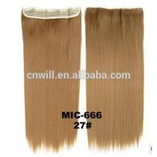 """New Long Brown hair color #27 24"""" Heat Friendly Synthetic fiber Straight Clip in Hair Extensions Hairpiece Ponytail with 120g"""