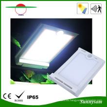 46 LED impermeable sensor de cuerpo humano luz solar para jardín