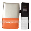 Leather Notebook with Calculator and Optional Ballpen (LC806D)