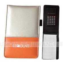 Notebook de couro com calculadora e Ballpen opcional (LC806D)