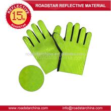 PVC vert film réfléchissant gant pour police