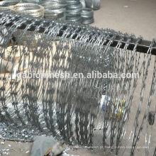 Arame farpado galvanizado de baixo preço e arame farpado de barriga de concertina para venda (preço de fábrica)