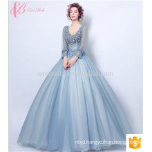 long sleeve gown formal cocktail girls party evening dresses