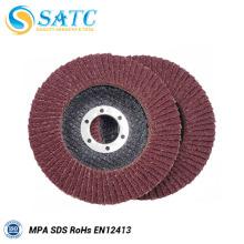 discos abrasivos rojos de óxido de aluminio para pulir