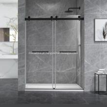 Sistema de porta deslizante para chuveiro Cambridge com montagem em parede