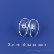Empuje el tornillo en los cojines de la nariz del silicón para los cabritos, sunglass