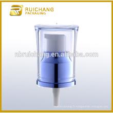 Pompe à lotions de revêtement UV en plastique / pompe à crème 20mm / distributeur de pompe à revêtement UV avec AS overcap