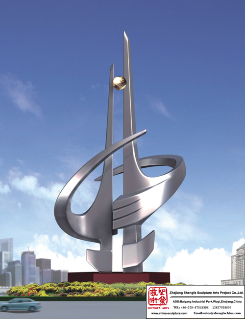 School Big Stainless Steel Sculpture