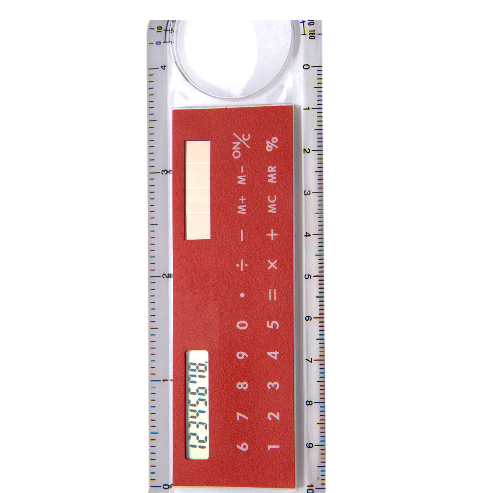 10cm Solar Power Promotional Ruler Calculator