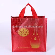 Mantimento não tecido laminado metálico reusável da sacola da compra do saco de Eco para a promoção, o supermercado e a propaganda