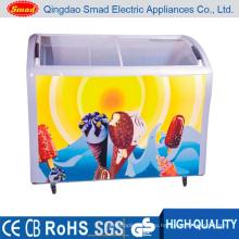 Морозильная камера морозильного стекла для супермаркетов