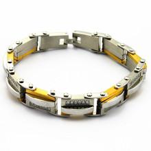 O preço por atacado no aço inoxidável pode fazer seu próprio bracelete conhecido para a venda, braceletes conhecidos personalizados