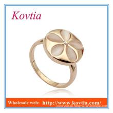 Moda jóias opala flor forma larga anéis de ouro anel de casamento de silicone
