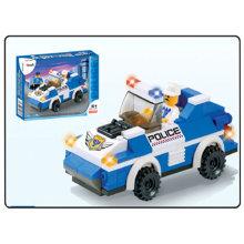 police car model block toys