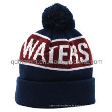 Bonnet chaud en tricot en acrylique à motifs acryliques (TMK0199-1)