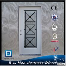 Соответствующий простой кованого железа и стеклянная дверь