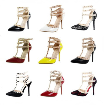 Nuevos zapatos de vestido de señora Sex Dress del alto talón del diseño (S17)