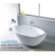Quality Oval Acrylic Resin Freestanding Bathtub