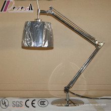 Éclairage de lecture rotatoire de lampe de table d'hôtel de chevet de bras de double de balancier LED pour la chambre à coucher