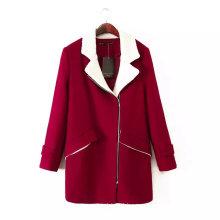 Facotry OEM High Quality Winter Women Fleece Outwear Long Coat