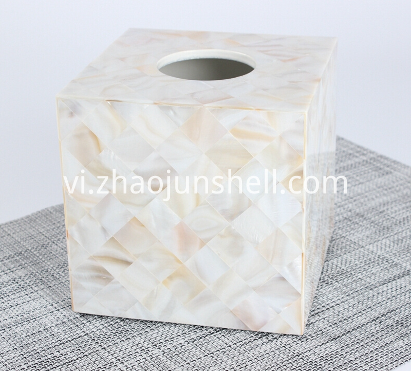 Chinese freshwater shell tissue box