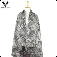 Women′s 100%Acrylic Checked Patterns Large Shawl with Fringes