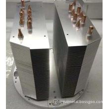 Nickel Plating 350 W-600 W Aluminum Fin and Copper Pipe Heatsink Big Power For LED Light Heatsinks