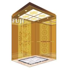 Rose Gold Edelstahl Spiegel Geätzter Passagier Aufzug / Lift