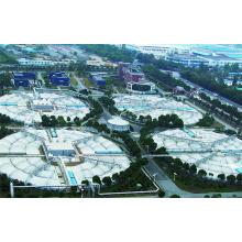 Membranstruktur der Abwasserentsorgungsanlage / Fabrik