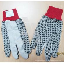 Guante de trabajo de latex guante PVC DOT