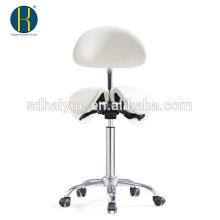 salón de belleza de alta qualilty PU blanco en sillas de barbero con base de cinco estrellas