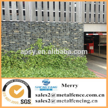 2mX1mX1m galvanized welded Galfan 3mm Gabion wall used to make car parking area