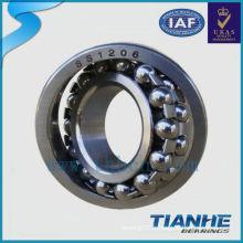 Roulement à billes en acier inoxydable bsll Roulement à billes auto-alignant Roulement à billes 1206 ballon en acier inoxydable