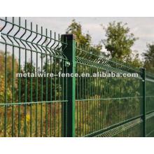 Galvanizado entonces la cerca revestida del acoplamiento de alambre del pvc (fábrica anping)