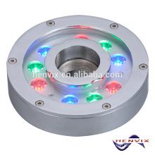 El superventas 9 * 3W RGB llevó la luz del anillo de la fuente sumergible, luz de la fuente 12v